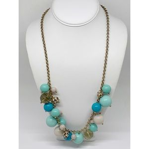 J. Crew Turquoise & Crystal Beads Necklace